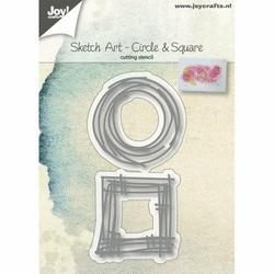 Wykrojnik do wycinania Joy Sketch Art - 2 ramki