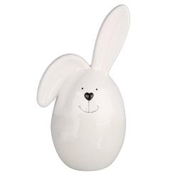 Porcelanowa figurka zając  dekoracja wielkanocna altom design zając jajko 7,5 x 14,5 cm