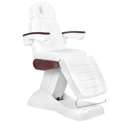 Fotel kosmetyczny elektr. lux białymahoń 3m