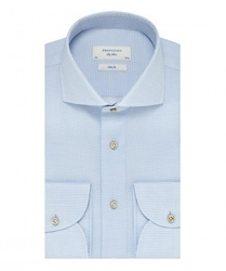 Elegancka błękitna koszula profuomo sky blue w mikrowzór 40