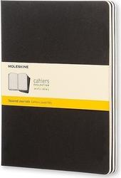 Zeszyty moleskine cahier journals xl 3 szt. w kratkę czarne