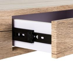 Konsola alaric ze szkła giętego, z szufladą