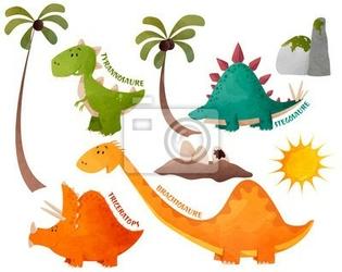 Naklejka dinosaures zbiory