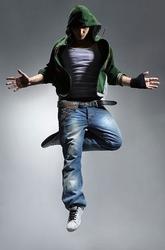 Cool looking dancer, jump - fototapeta