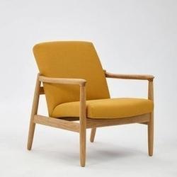 Politura :: fotel finch z niskim oparciem żółty wys. 64 cm
