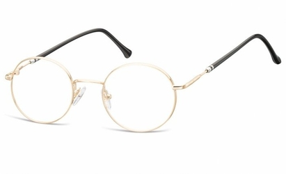 Lenonki okrągłe oprawki optyczne 926c złote