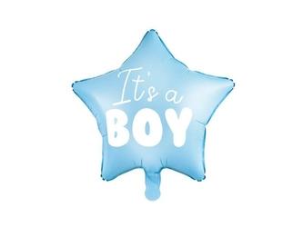 Balon foliowy gwiazdka - its a boy, 48 cm, jasny niebieski