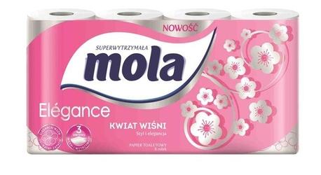 Mola elegance kwiat wiśni, zapachowy papier toaletowy, 3 warstwy, 8 rolek