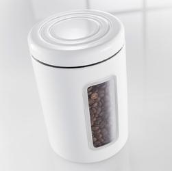 Pojemnik kuchenny miętowy, metalowy z okienkiem classic wesco 321206-51