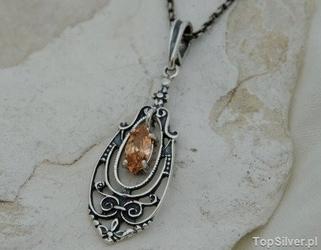Ordesa - srebrny wisiorek z topazem złocistym