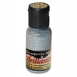 Brokat sypki brillantini 20g - srebrny opalizujący - so