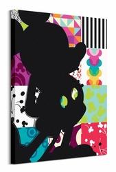 Mickey Mouse Patchwork Silhouette - obraz na płótnie
