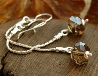 Aristo - dlugie srebrne kolczyki z kryształem