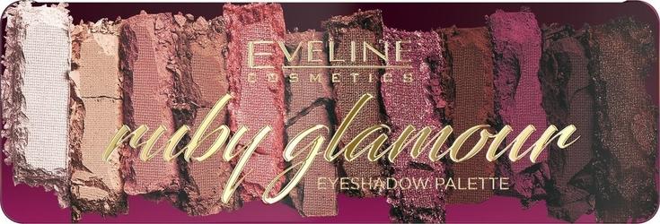 Eveline ruby glamour paletka cieni do powiek 12 1op.