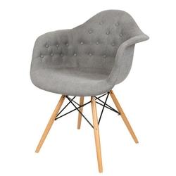 Nowoczesny fotel kr012f guzik buk