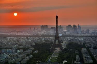 Fototapeta na ścianę zachód słońca w paryżu fp 5111