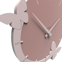 Zegar ścienny flight of the butterflies calleadesign jasnobrązowy 50-10-3-23