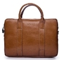 Skórzana torba męska na laptopa solier brązowy vintage - brązowy vintage