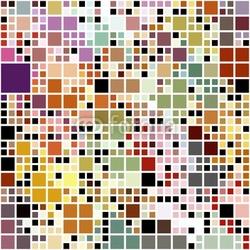 Obraz na płótnie canvas pastelowe kolorowe bloki wzór