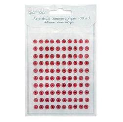 Kryształki ozdobne samoprzylepne 100 szt.-czerwone - CZW