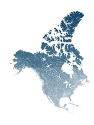 Mapa hydrologiczna ameryki północnej