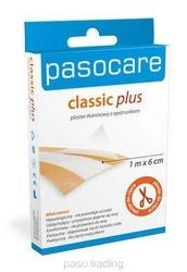 Pasocare classic plus plaster tkaninowy z opatrunkiem 1m x 6cm
