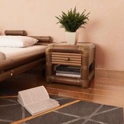 Vidaxl szafka nocna, 45 x 45 x 40 cm, bambus, ciemnobrązowa