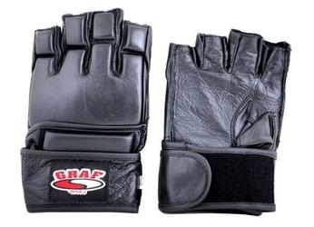 Rękawice mma code b skóra buffalo black