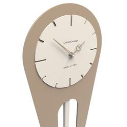 Zegar ścienny z wahadłem sally calleadesign oliwkowo-zielony 11-001-54