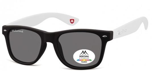 Okulary nerdy  montana mp40g białe polaryzacyjne