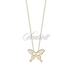 Złoty naszyjnik - motylek