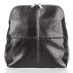 Czarny skórzany plecak damski vintage
