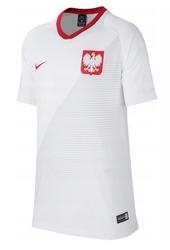 Koszulka nike polska 2018 894013-100 junior biała