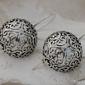 Półkule - orientalne srebrne kolczyki