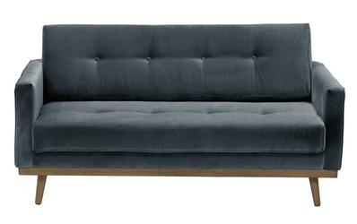 Sofa klematisar welurowa welur bawełna 100 szary