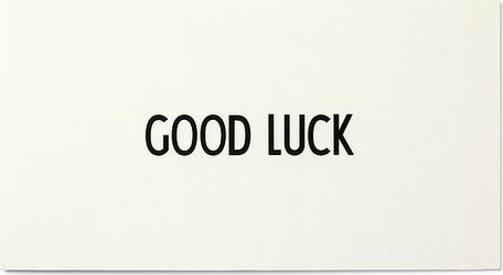 Kartka okolicznościowa design letters good luck