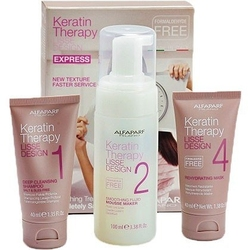 Alfaparf lisse design keratin therapy, zestaw do keratynowego prostowania włosów
