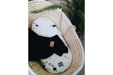 Kocyk tkany z bawełny organicznej - Czarny
