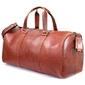Skórzana torba męska podróżna brodrene r20 koniakowa - koniak
