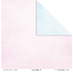 Uroczy papier pink and blue joy 30,5x30,5 cm - 01 - 01