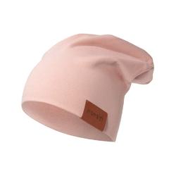 czapka podwójna pudrowy róż