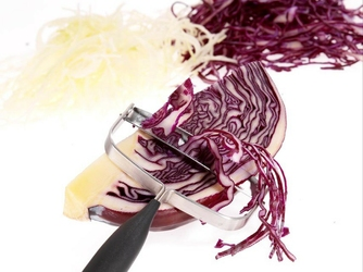 Obierak prosty do warzyw i nóż do sera 2w1 verdura gefu g-13670