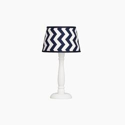 Lampka nocna roomee decor - granatowe zygzaki