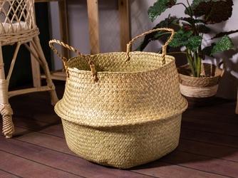 Koszyk  osłona na doniczkę z trawy morskiej altom design boho 30 cm