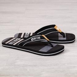 Klapki męskie japonki plażowe czarne big star ff174460 - czarny
