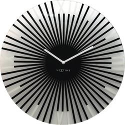Zegar ścienny Sticks Nextime 43 cm, czarny 8175 ZW