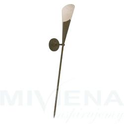 Kinkiet - pochodnia antyczny brąz szkło
