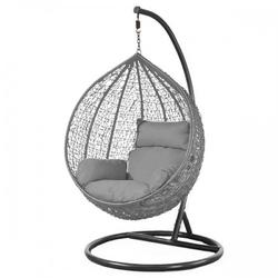 Fotel wiszący bujany kosz huśtawka gniazdo kokon szary