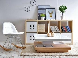 Krzesło bujane białe tunis ll ekoskóra