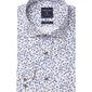 Biała koszula profuomo w kwiecisty wzór slim fit 37